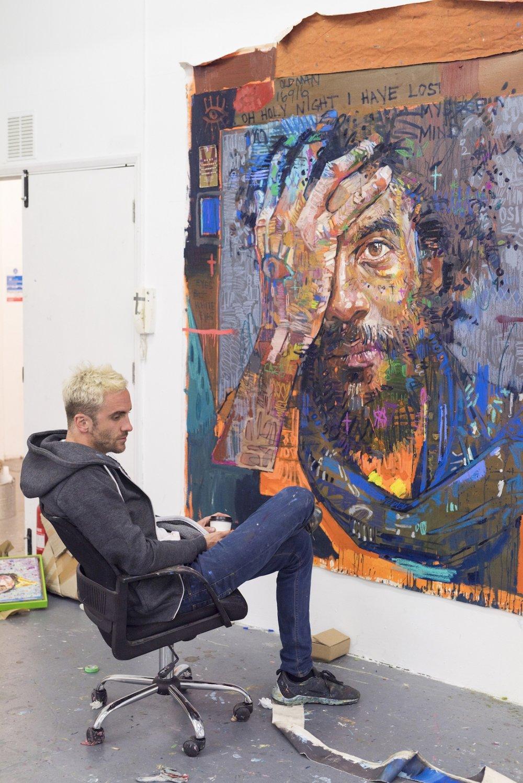 Andrew Salgado in his studio - photography by Creative Boom
