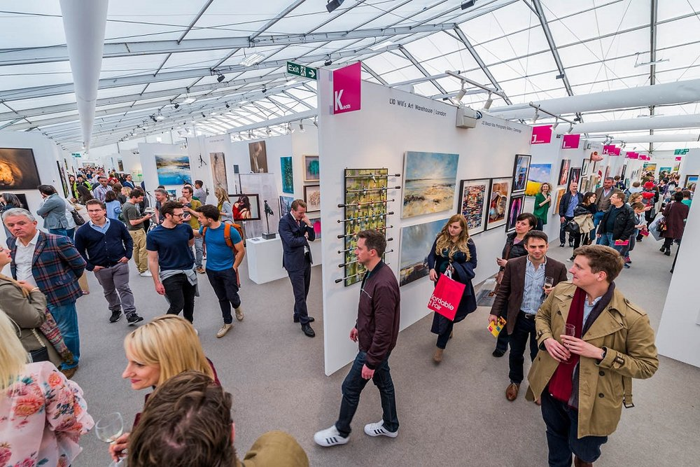 The Affordable Art Fair Hampstead (photograph: Guy Bell)