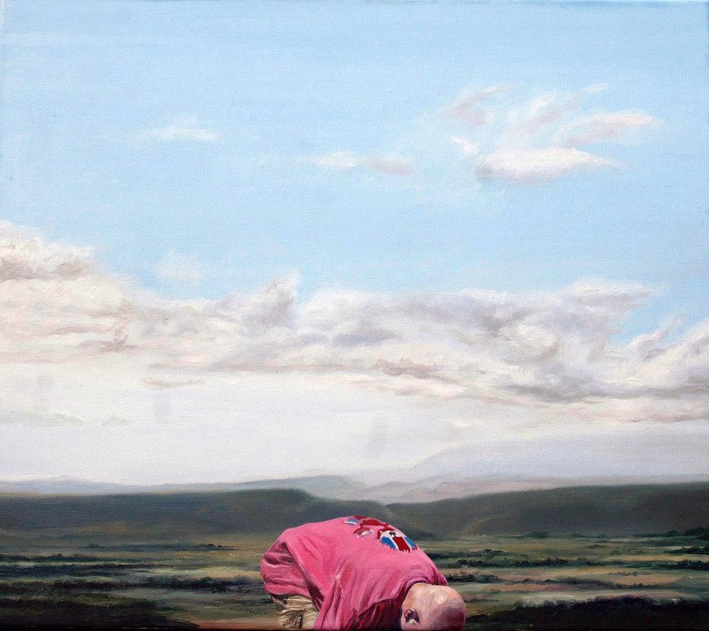 Chris Stevens, Bibaud, oil on canvas, 70 x 80 x 5 cms,  http://www.chrisstevens.co
