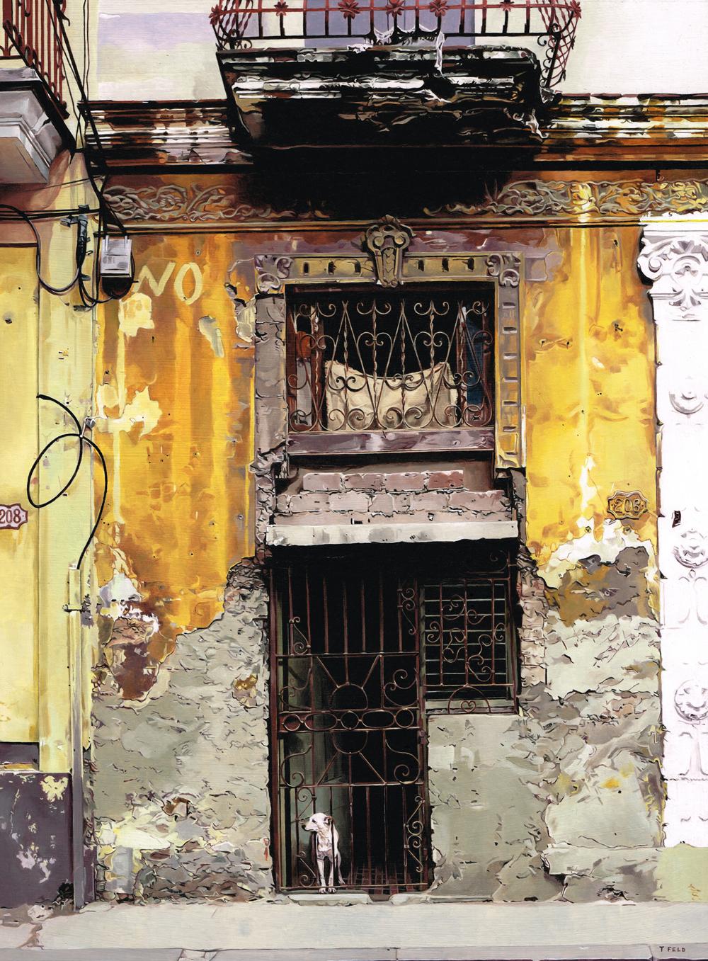 Tony Feld, Havana, Oil on board, 45.5 x 36 x 2,