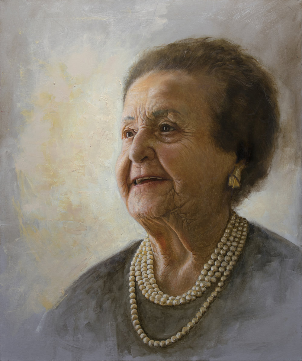 Benjamin Hassan, Flora, Oil on Canvas, 55cm x 46cm,  http://www.benjaminhassan.com