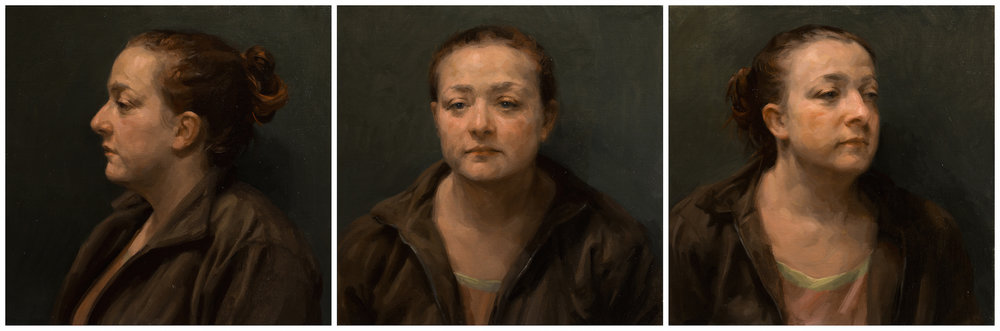 Frances Bell, Laury, oil on canvas, 138 x 46 x 2,  http://www.francesbellpaintings.co.uk