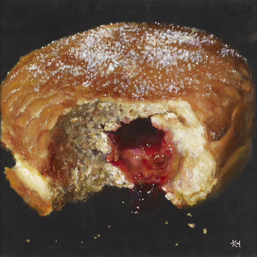 Kim Haskins, Doughnut, Acrylic on board, 60 x 60 x 0.3cm