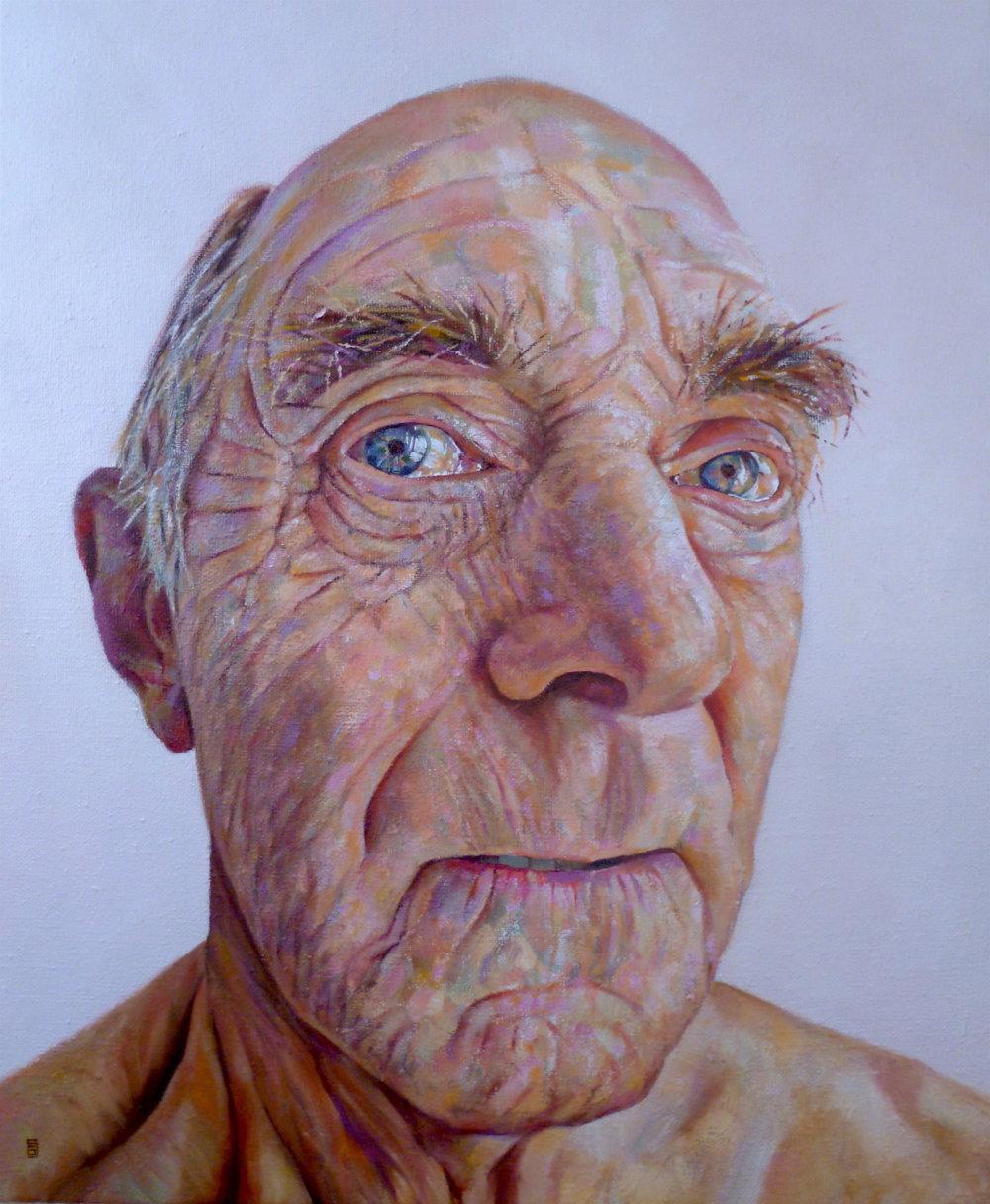 Geoff Shillito, Jeff, Oil on Linen, 63cm x 53cm,  http://www.geoffshillito.com