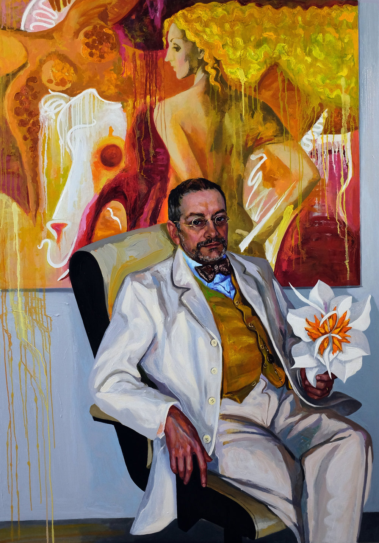 Anastasia Russa, Michael's Second Spring, canvas, oil, 200x140x3 cm,  https://www.anastasiarussa.com/portraits