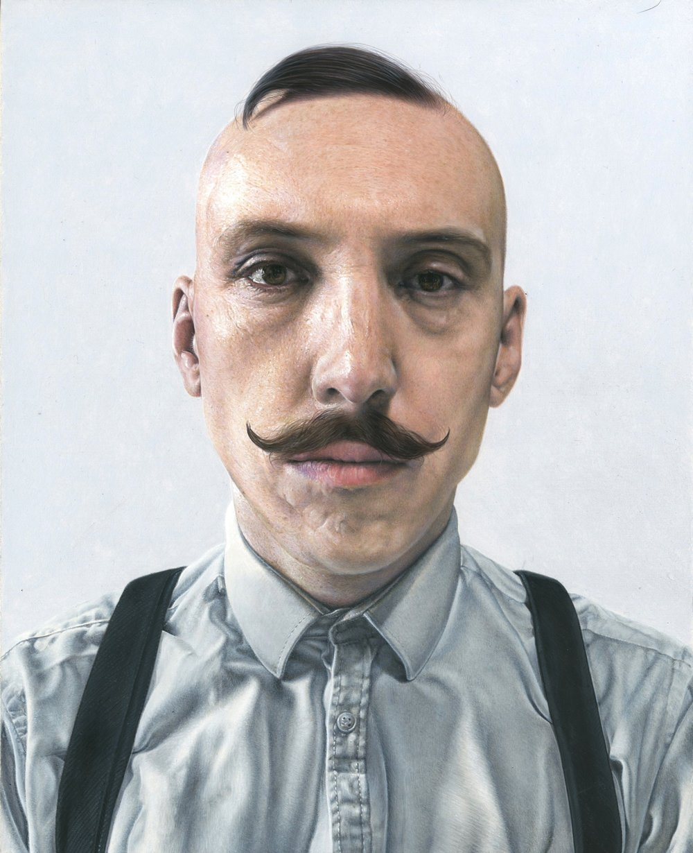 Steve Caldwell, Jamie, acrylic on wood panel, 30 x 24 cm,  http://www.steve-caldwell.co.uk