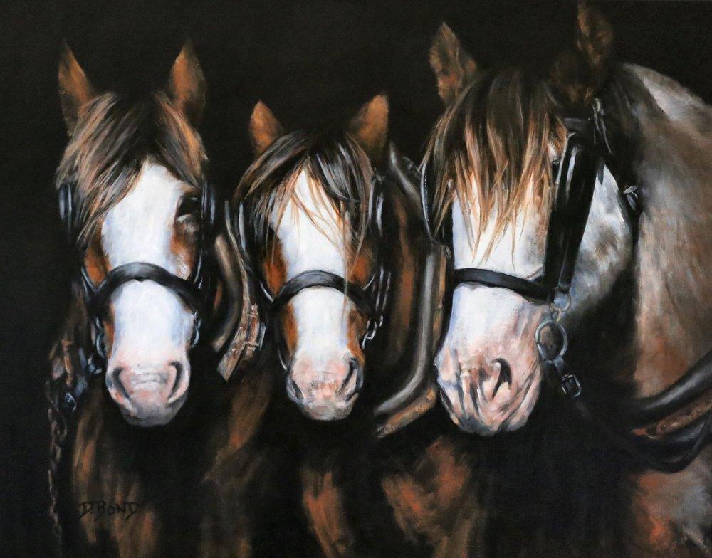 Deborah Bond, Ready, Willing and Able, Acrylic on canvas, 60cm x 75cm x 3.5cm,