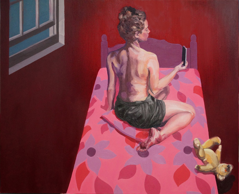 Richard Tomlin, The Hour between Dog and Wolf 1, Oils on canvas, 81 x 98 x 2cms,  http://www.richardtomlin.co.uk