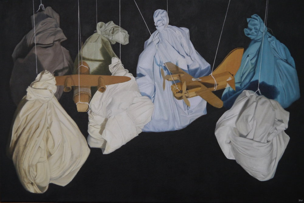 John Whitehill, Left Hanging IV, Oils on canvas, 75 x 50 x 4,  http://johnwhitehill.co.uk