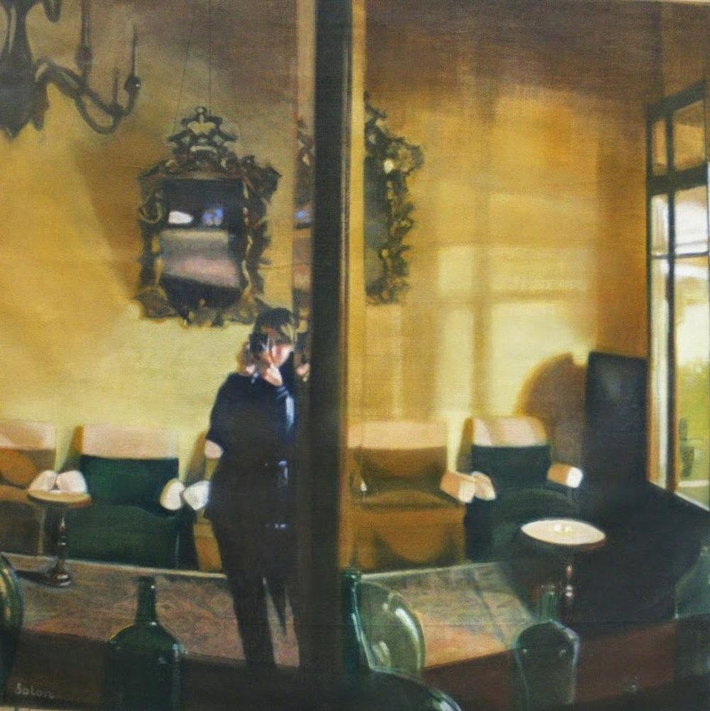 Masha Solon, Split Image, Oil on linen, 100cm x 100cm,  http://mashasolon.blogspot.co.uk/