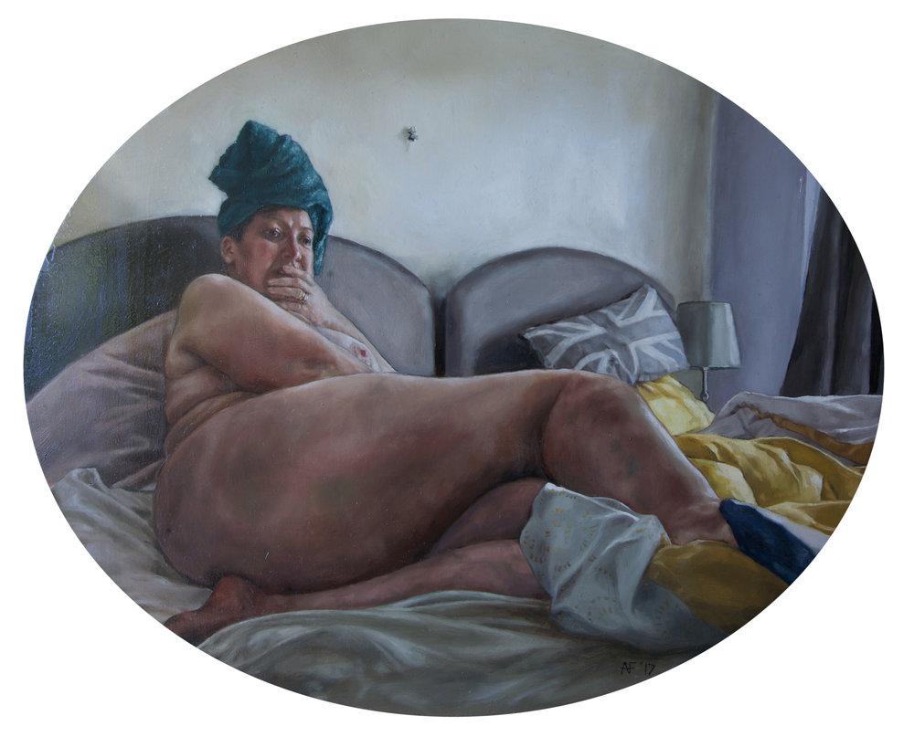 Alicia France, Contemplation, Oil on Aluminium, 40 cm x 33 cm x 0.3 cm,  http://www.aliciafrance.com