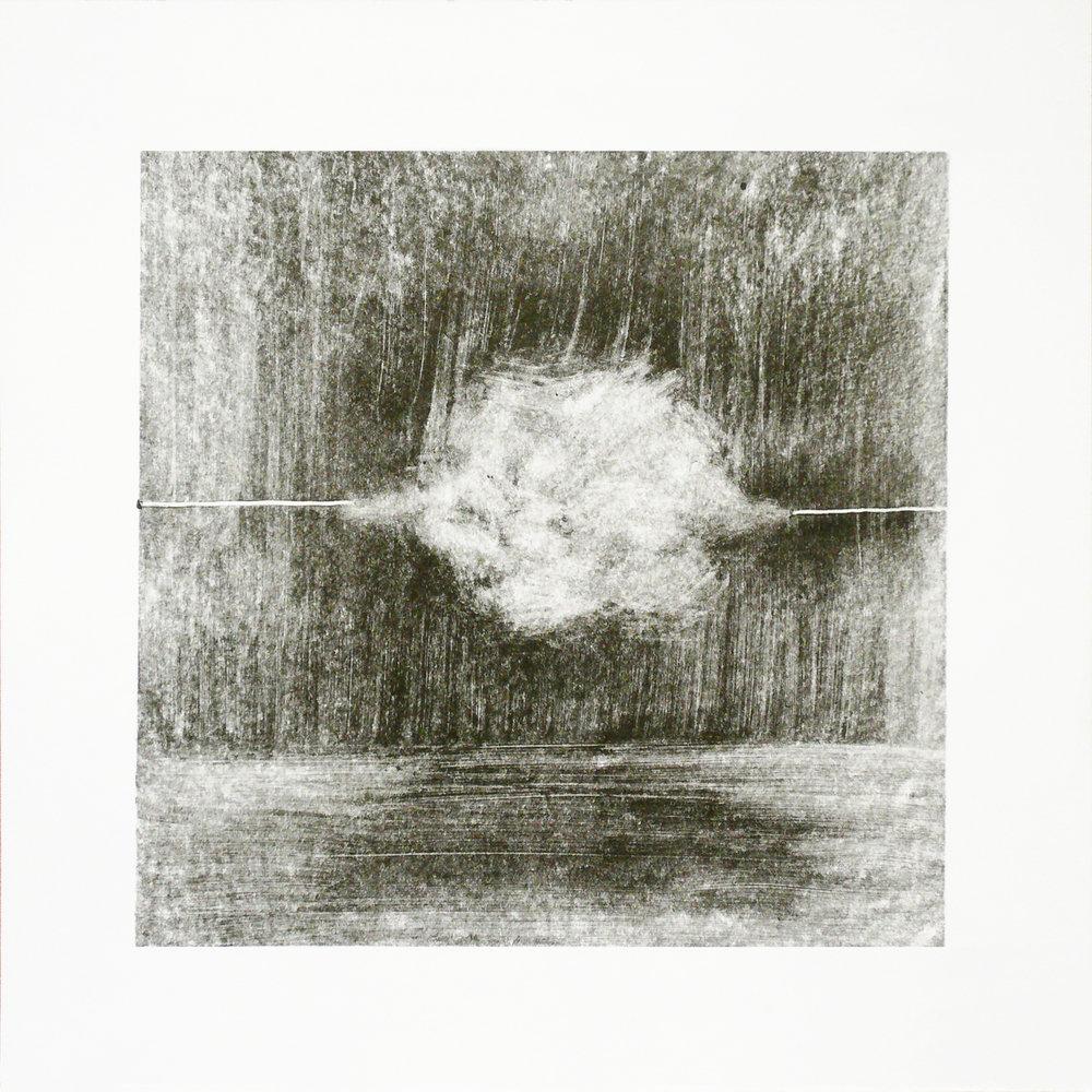 Olga Parfenova, Monocloud II, Monotype, ink on paper, 30 cm x 30 cm,  http://parfenova.net