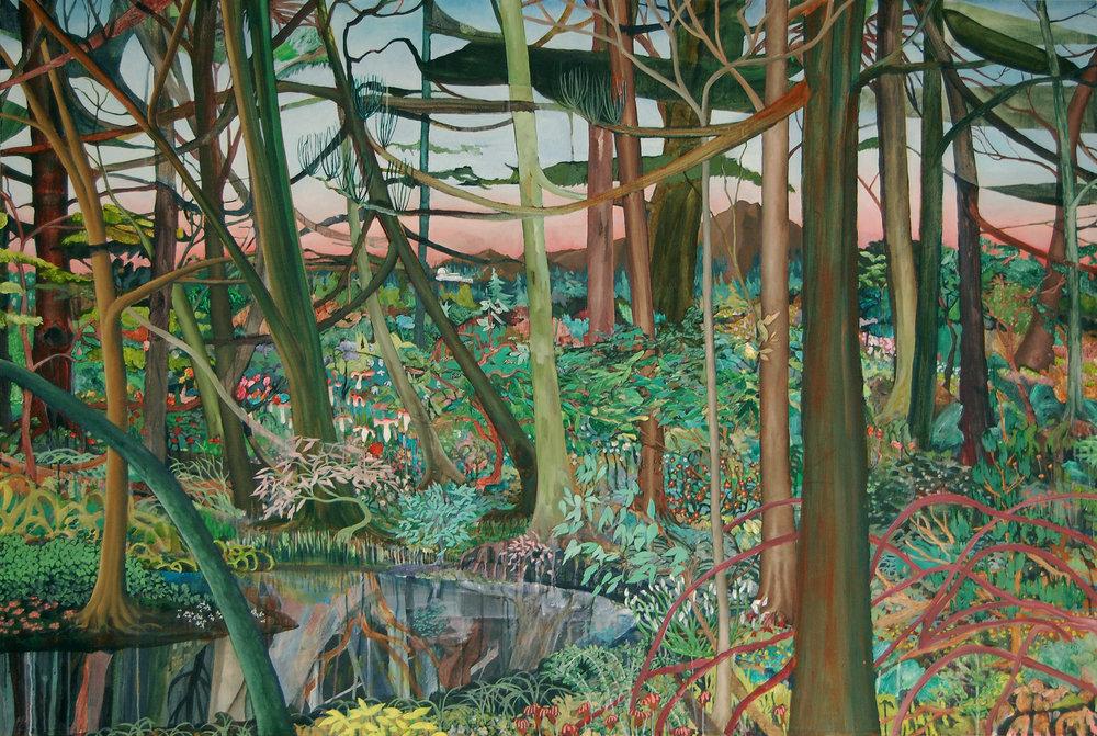 Christian Kuras, Observatory, Acrylic and oil on canvas, 122 x 183 x 3.5,  http://christiankuras.com