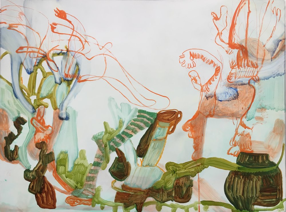 Nadja Gabriela Plein, exuberance of small things, oil on dibond, 60 by 80cm by 1cm,  http://www.nadjagabrielaplein.co.uk