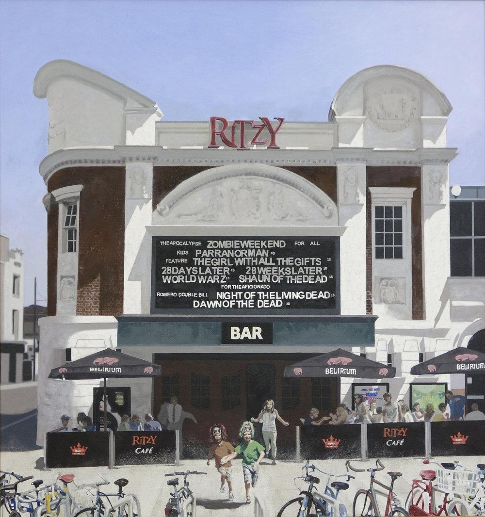 Joshua Hilton, Ritzy, Oil on canvas, 91cm x 85.5cm x 3cm (Framed 101cmx95.5cmx6cm),  http://www.joshuahiltonartist.com