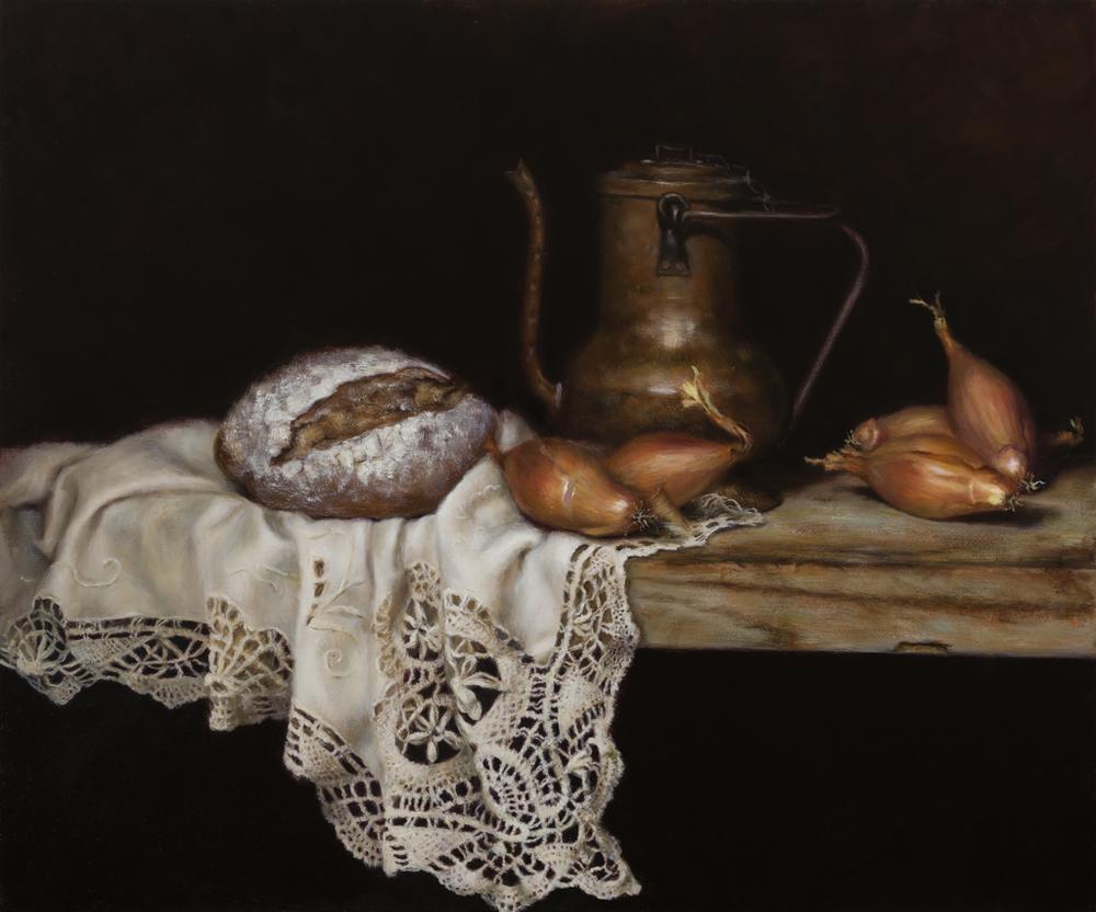 Rusudana Glonti, Simple Pleasures, Oil On Canvas, 50 X 60 X 4 cm,  http://www.rusudanaglonti.co.uk