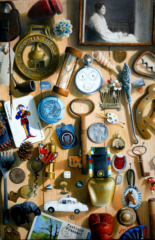 Lorna Hamilton, Life in a Box, Oil on linen, 45 x 30,  http://www.lornahamilton.com