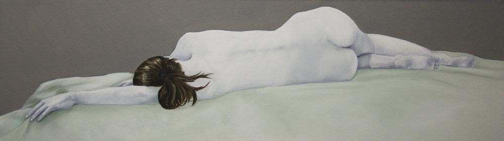 Alan Smith, Natasha, oil, 100cm x 40cm x 4cm,  http://alancarlyonsmith.com