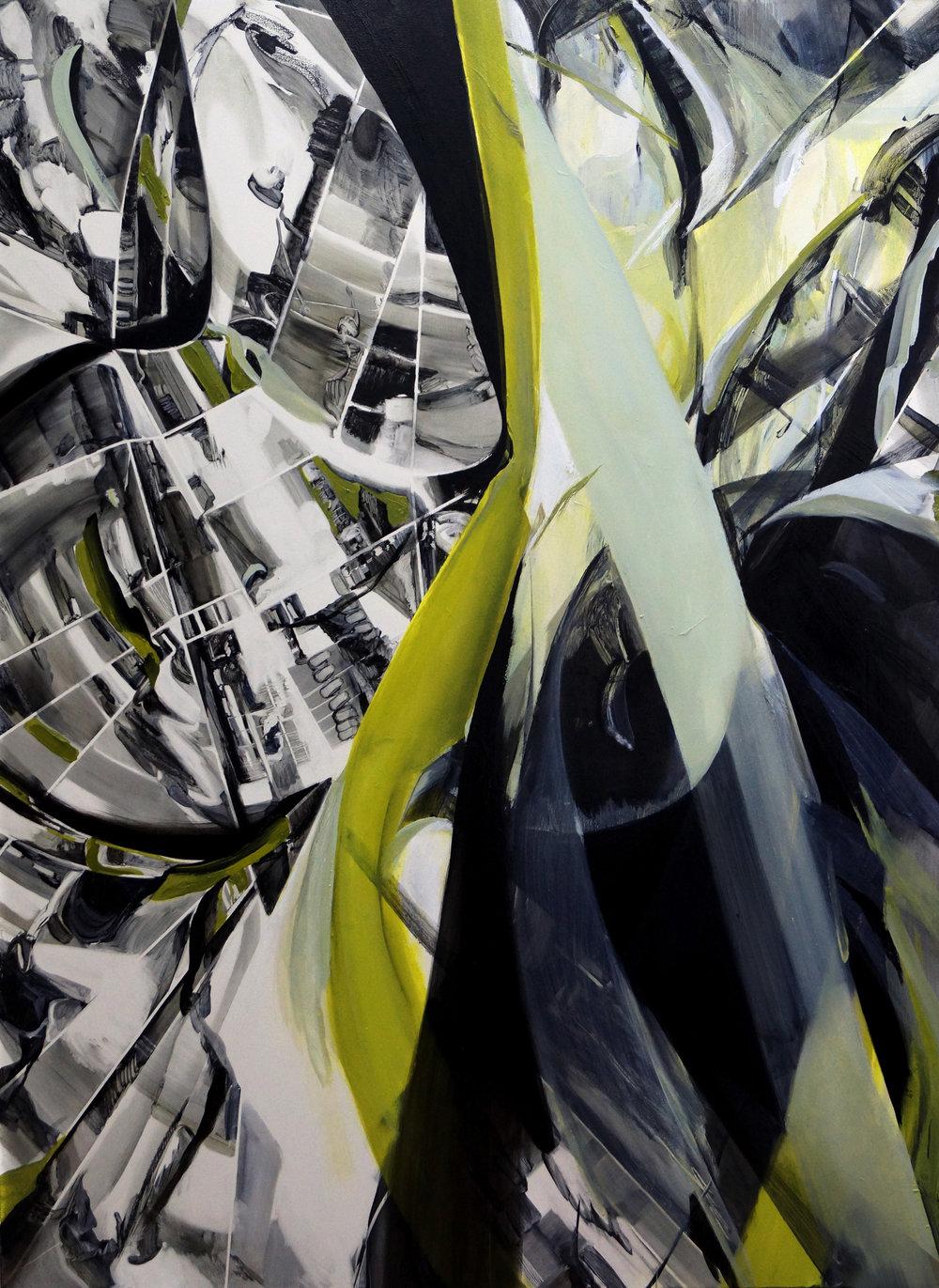 Hannah Shin, Crest, Oil on Canvas, 190cm x 140cm x 4cm,  http://www.hannahshinart.com