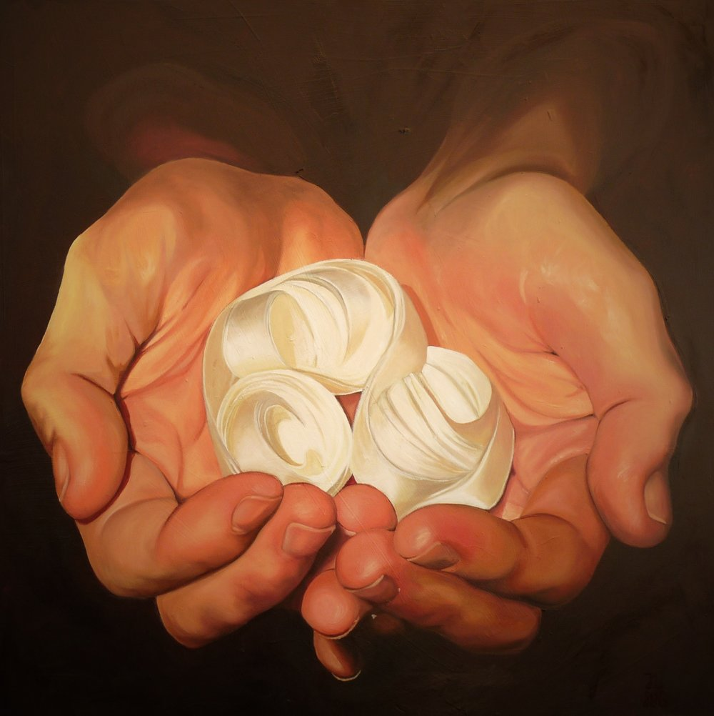Jennifer Litts, Holy, Oil on Panel, 61cm x 61cm x 2cm,  http://www.soli-deo-gloria.co.uk/