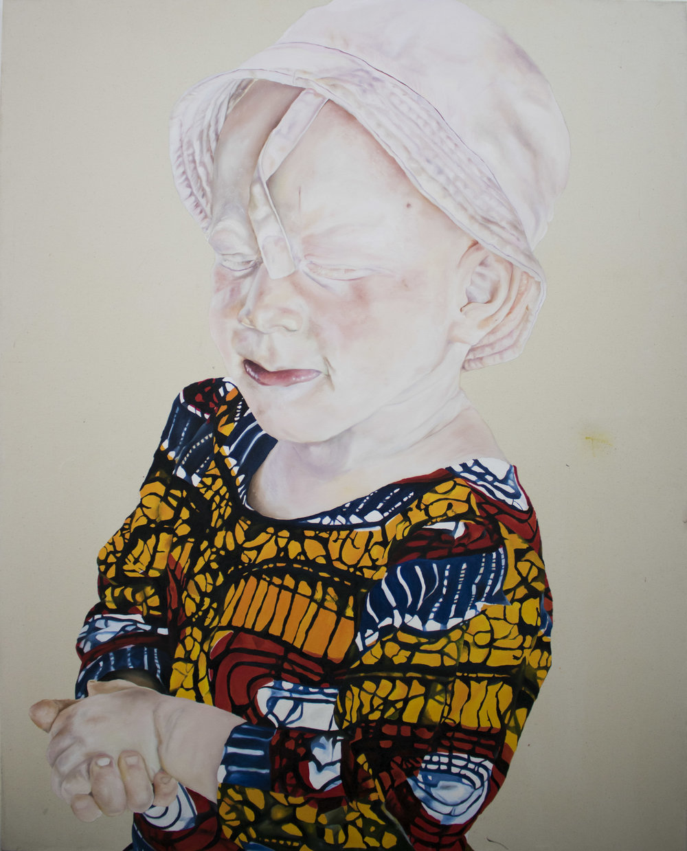 Annie-Marie Akussah, JUDIE, Oil paint on Canvas, 150 cm x 120 cm,  https://www.anniemarieakussah.com