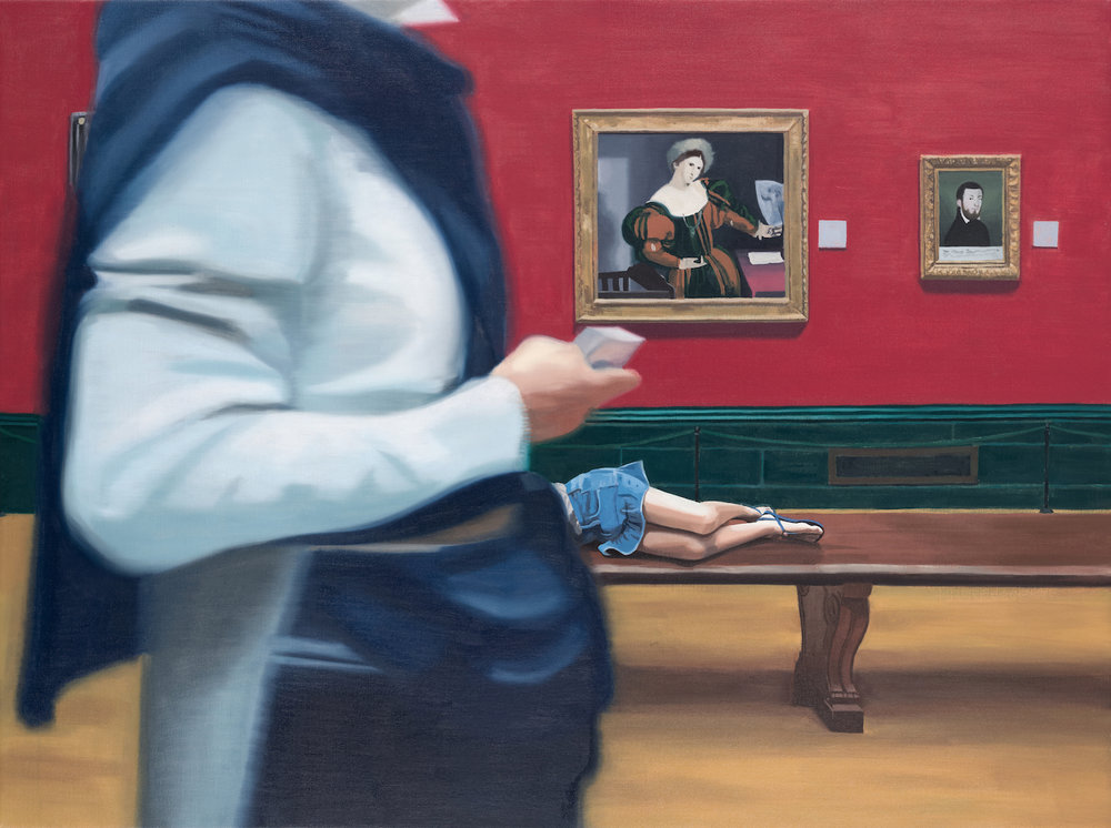 Elena García de la Fuente, Sleeping Beauty, Oil on linen, 120 x 90 cm,  http://elenagf.com