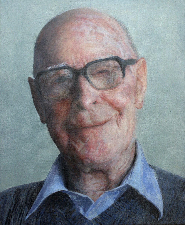 Adele Chapman, Happy 95th Mr Johnson, Acrylic on canvas, 30 cm x 25 cm x 1.9 cm,  http://www.adelechapman.ie