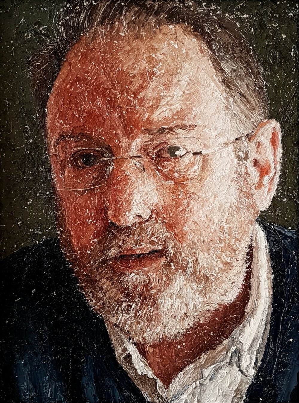 Tom Ward, The Silversmith, Oil on board, 30 x 22.5 x 0.5cm