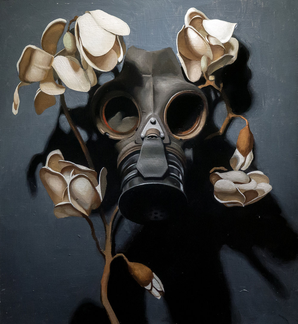 Kieran Ingram, Pale Carnage, Oil on Panel, 36cm x 40cm x 3cm,  http://www.kieraningram.com