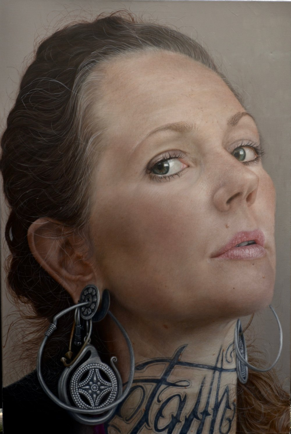 Justin Russell, Minka, Oil on Linen, 80cm wide 120cm long,  http://justinrussellartist.com