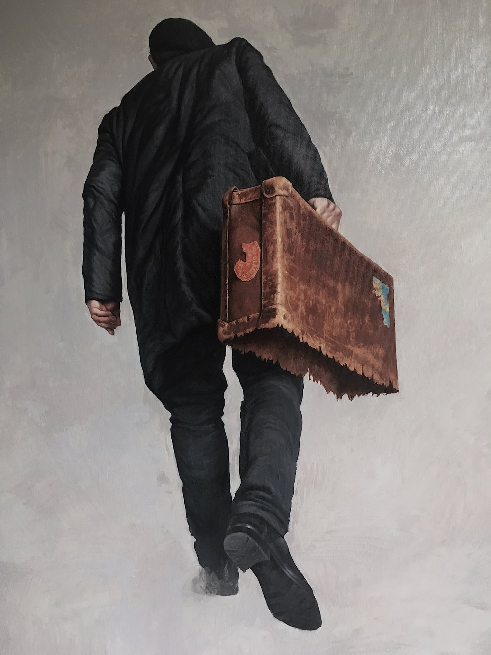 Agim Sulaj, Emigrant, Oil on Canvas, 120x80 cm,  http://www.agimsulaj.com