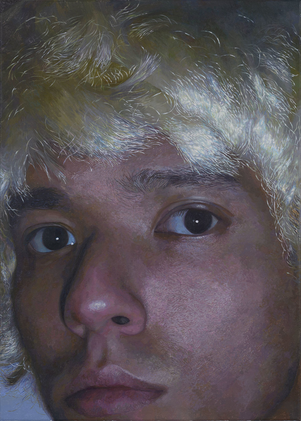 Fakhri Bismanto Bohang, (The) Blonde Wig, Acrylic on canvas, 70 x 50 x 2,  http://www.bismanto.com
