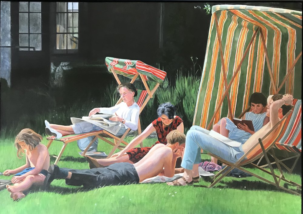Annette Tranter, Sunday afternoon, Acrylic on canvas, 50 x 70 x 2