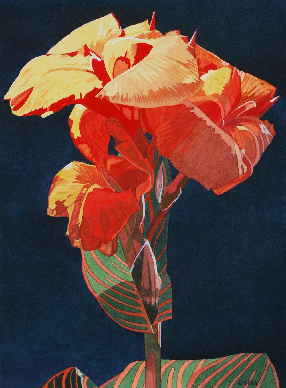 Marjorie Collins, Canna II, Watercolour, 97 x 75 x 2,  http://marjoriecollins.com