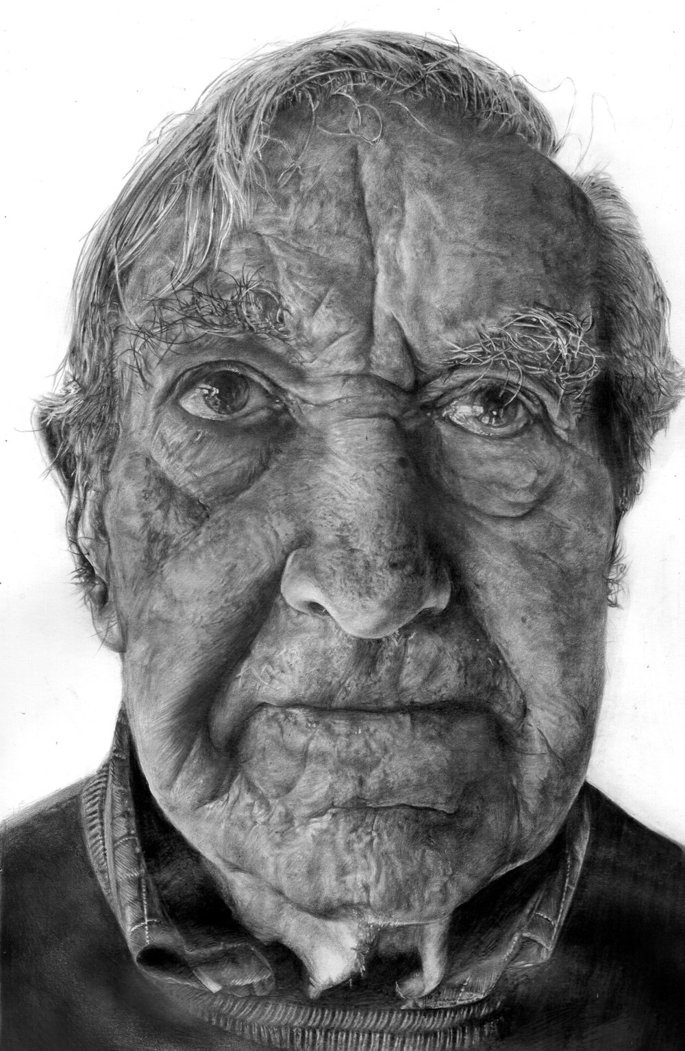 Meggie Watkins, My Grandfather, Pencil, 29x17x2