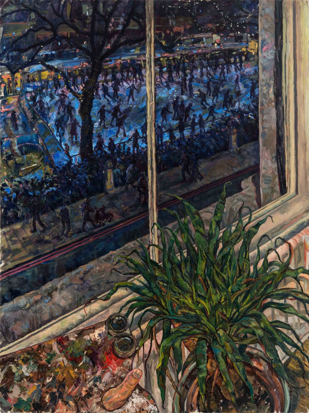 Tom Harrison, From 15 Cromwell Road, Oil On Canvas, 105 cm x 80 cm x 02 cm