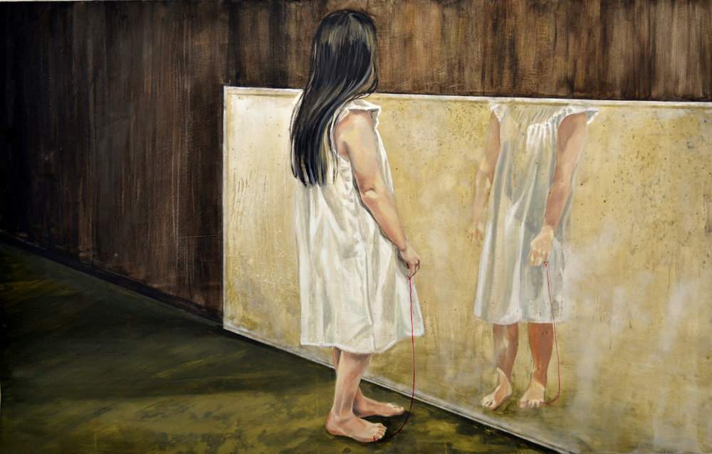 Zuzanna Salamon, A space of her own, Oil paint on fibreboard, 79x123x0,1,  https://www.facebook.com/SalSusanart/