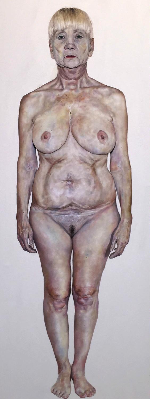 Hannah Murray, Helen, Oil on Canvas, 190 x 90 x 4 cm