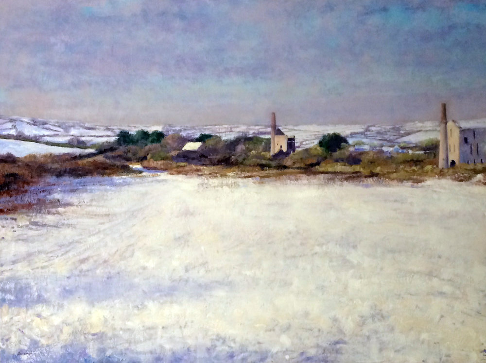 Andrew Barrowman, Morning snow, Cornwall, Oil on canvas, 78cm x 102cm x 3cm,  http://www.andrewbarrowman.com