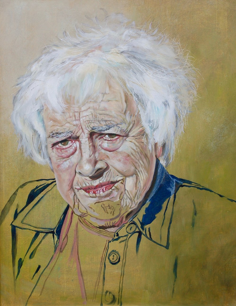 Fiona Hackman, Fiona Hackman - Betty my M.i.L., Oil on board., H 42cm W 35cm D 0.6cm