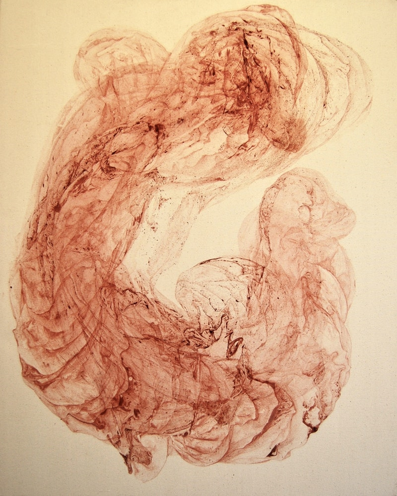 'Untitled' Oxide pigment in canvas 100 X 80 X 4 cm Odilia Suanzes