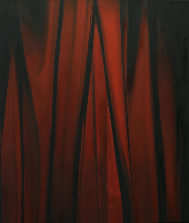 Alina Pecherskaya, Iron Curtain Nowadays, oil on canvas, 190 cm x 160 cm,  https://www.instagram.com/pecherskaya_art/