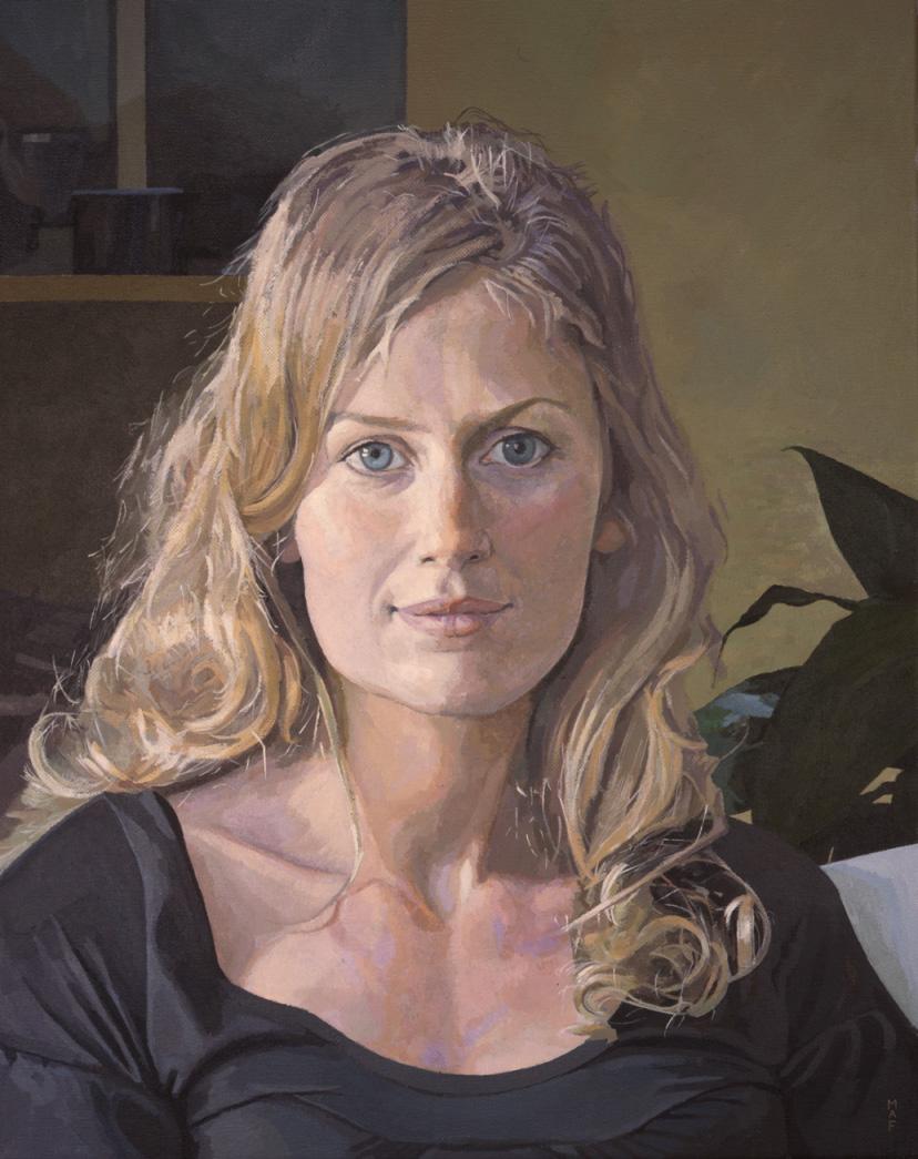 Mark Fielding, Adrianna, Acrylic on canvas, 50cm x 40cm x 3cm,  http://www.markfielding.co.uk