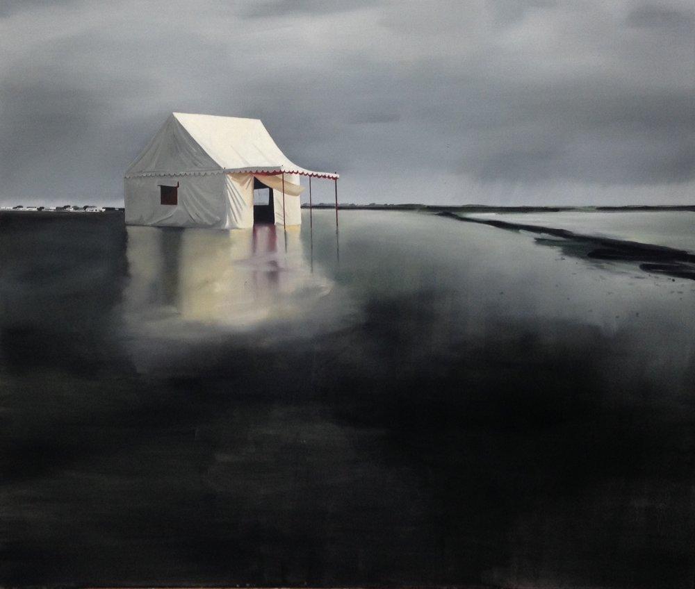Charlotte Brisland, The circus within, oil on canvas, 180x150cm,  http://www.charlottebrisland.com