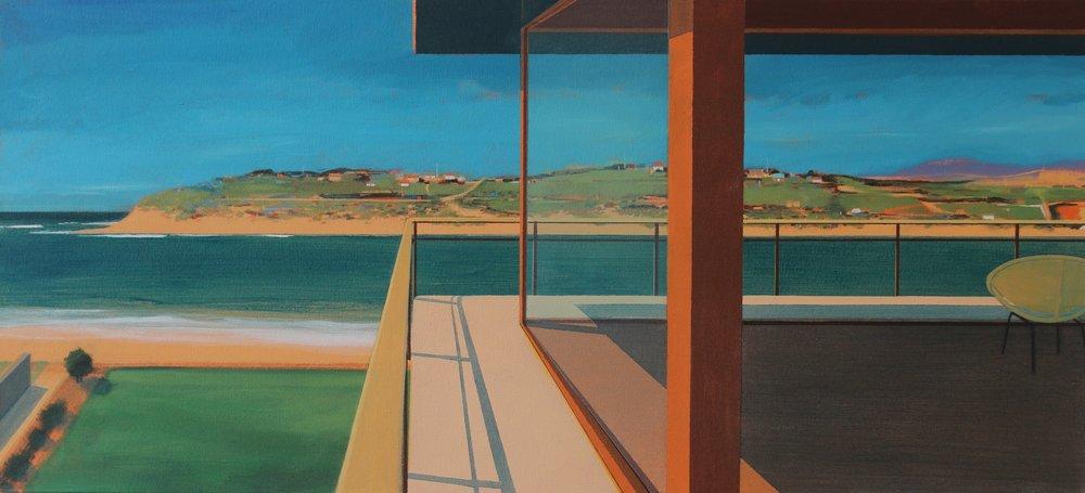 Alasdair Lindsay, Hayle Rivermouth, Cornwall, acrylic on canvas, 52x112x5 cm,  http://www.alasdairlindsay.com