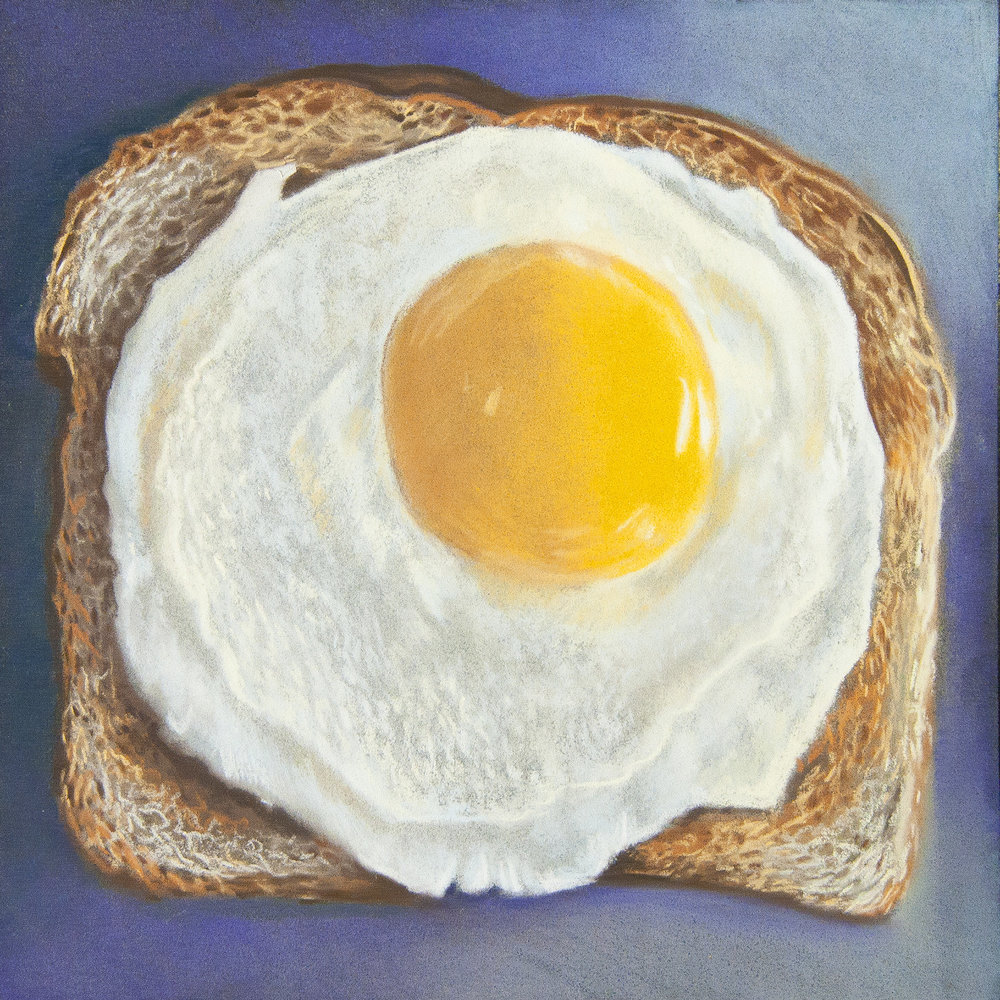 Pastel Prize Winner (£200 Jackson's Art Gift Voucher): 'Egg on Toast' by Paul Hinks.  Read more about the artwork.