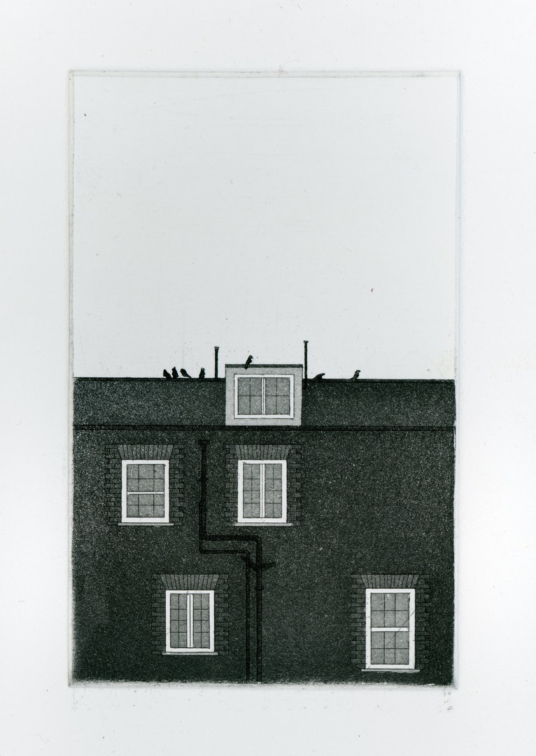 Thomas Parkhouse , 'Murder of Crows', Etching & Aquatint on Paper, 13 x 8 cm