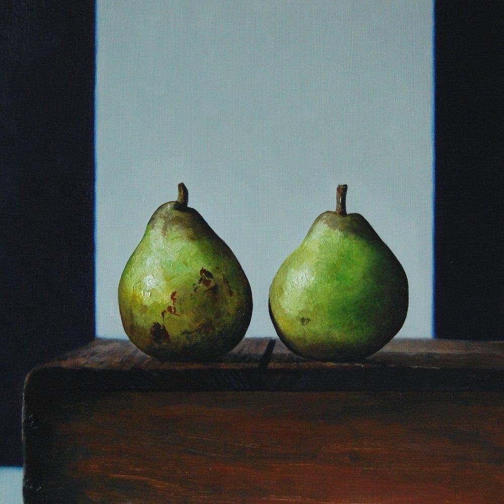 Andrew Thompson, 'Pears', Oil on Aluminium, 25 x 25 cm