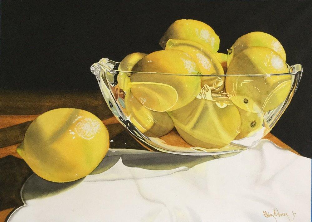 Claire Osborne , 'Bowl of Sunshine' , Watercolour on Paper, 30 x 51 cm