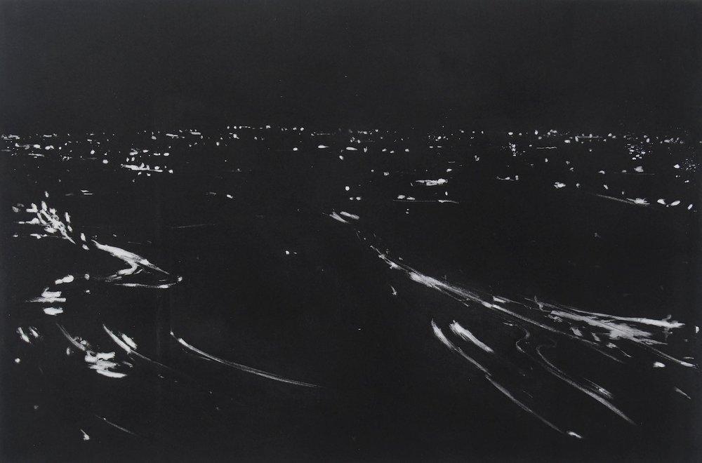 Printmaking Prize Winner (£400 Jackson's Art Gift Voucher): 'Night Flux #4' by Francesco Poiana.    Read more about the artwork.